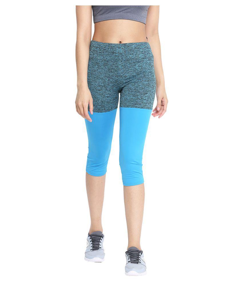 CHKOKKO Sportswear Stretchable Yoga Workout Gym Capri Women