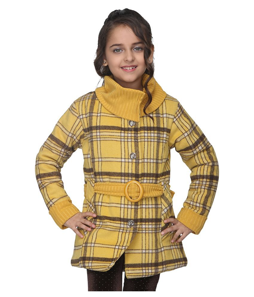 Cutecumber Girls Partywear Coat Fabric Jacket