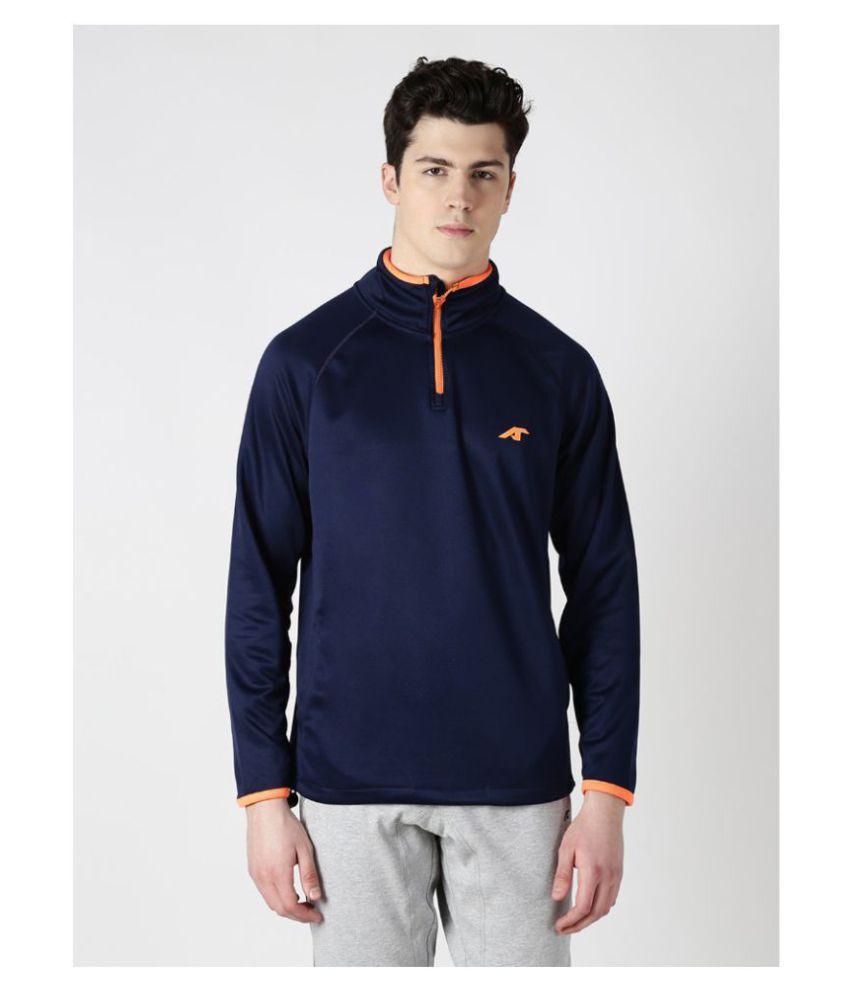 Alcis Navy Cotton Polyester Fleece Sweatshirt