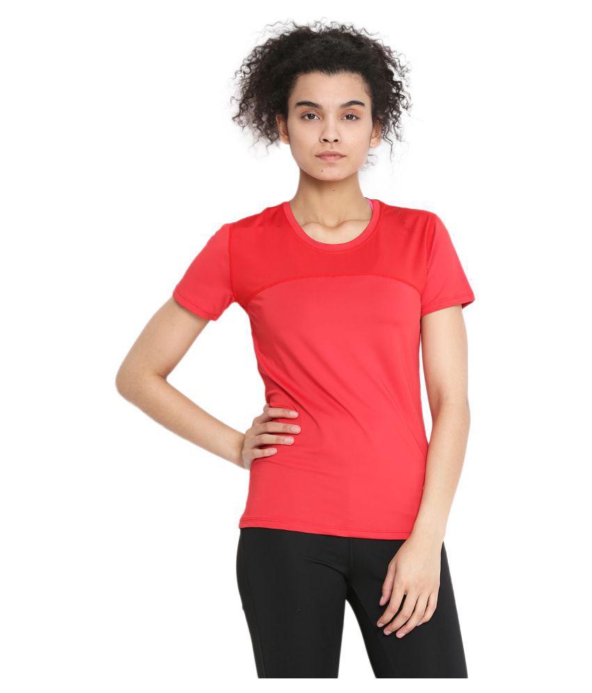 CHKOKKO Round Neck Half Sleeve Yoga, Sports, Dryfit Active Wear Gym Tshirt for Women