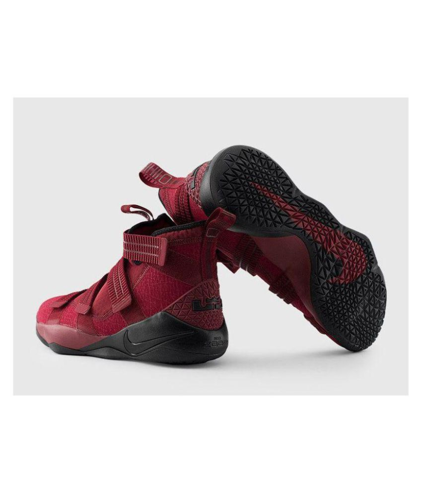 more photos 4e38e ee6d1 Nike Lebron Soldier 11 Finals Dark Red Black Midankle Male Others