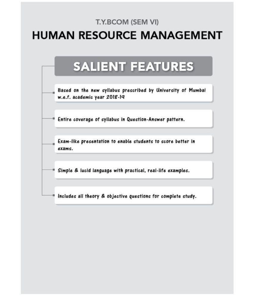 TYBcom Sem 6 HRM - Human Resource Management Smart Notes (Mumbai University)