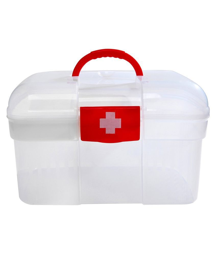 Inditradition Emergency Medical Storage Box For Home & Work (Transparent)