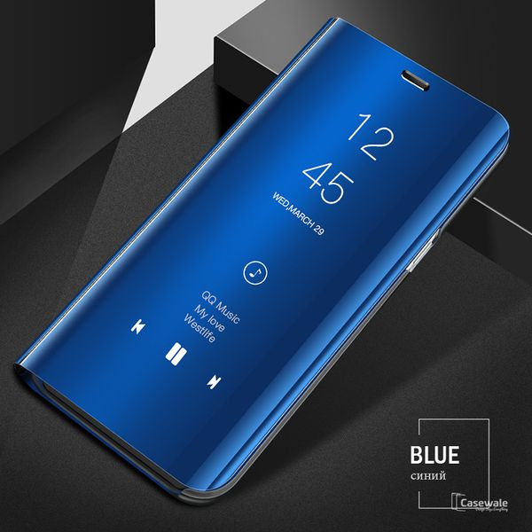 pretty nice 17c9d 8b3a0 Vivo V9 Pro Flip Cover by BeingStylish - Blue Luxury Clear View Mirror Flip  Cover