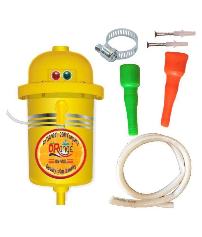 Orange 1 Ltr Portable Geyser Instant Water Heater (Yellow) Instant - Geysers Yellow