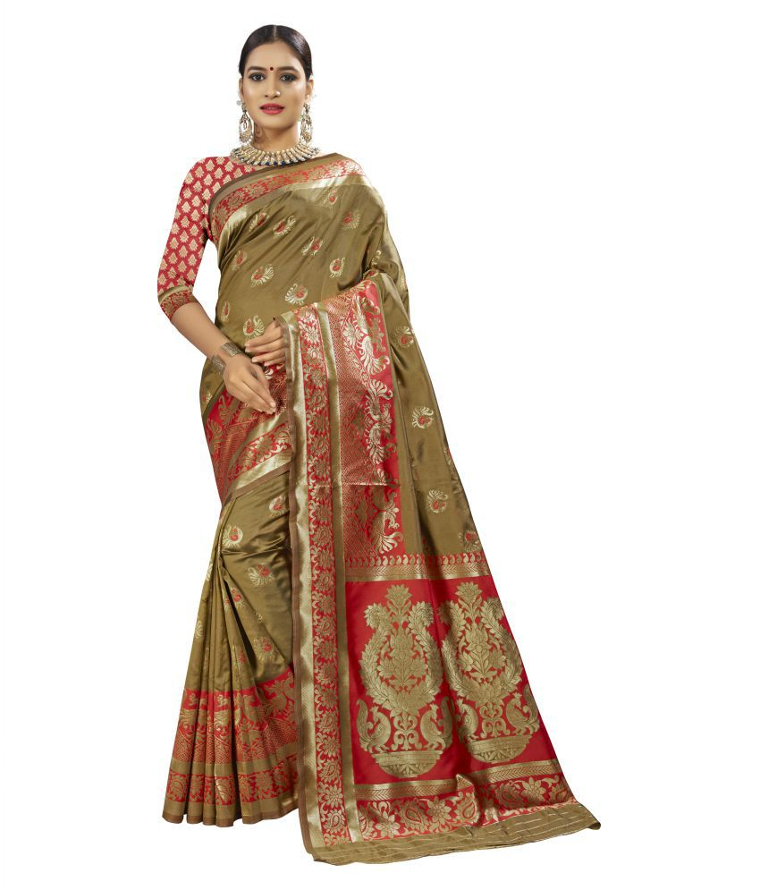 Jhabroo Green Banarasi Silk Saree