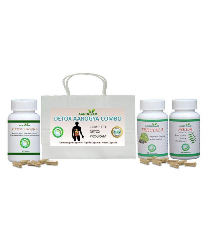 Aarogyam Detox Arogya Combo Capsule 500 mg Pack of 3