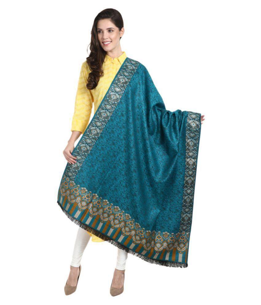 Aarzoo Blue Kashmiri Shawl