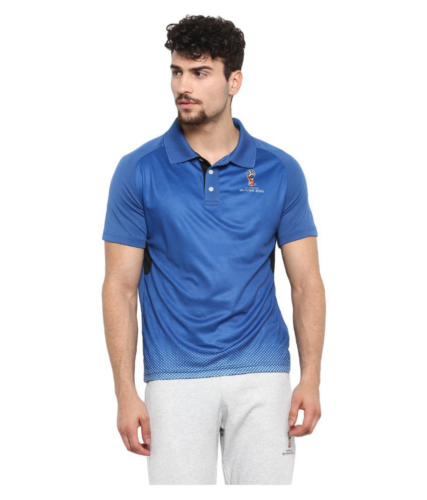 FIFA Blue Polyester Polo T-Shirt Single Pack