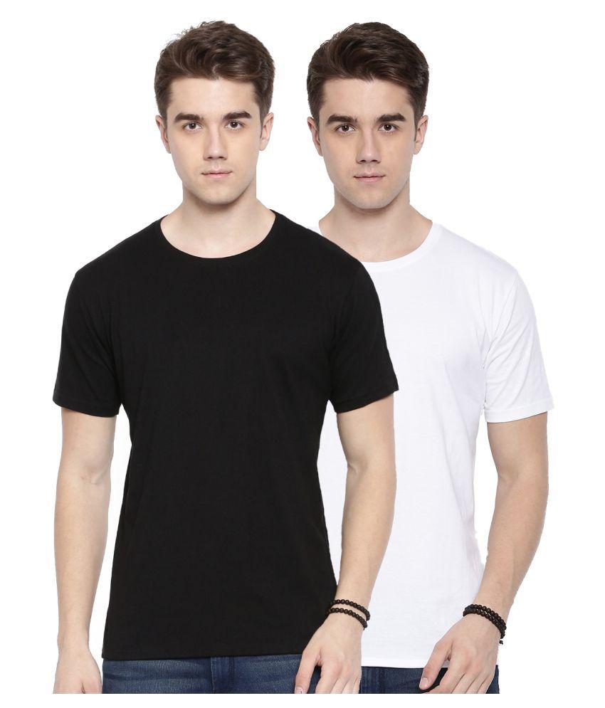 MANLINO Multi Half Sleeve T-Shirt Pack of 2