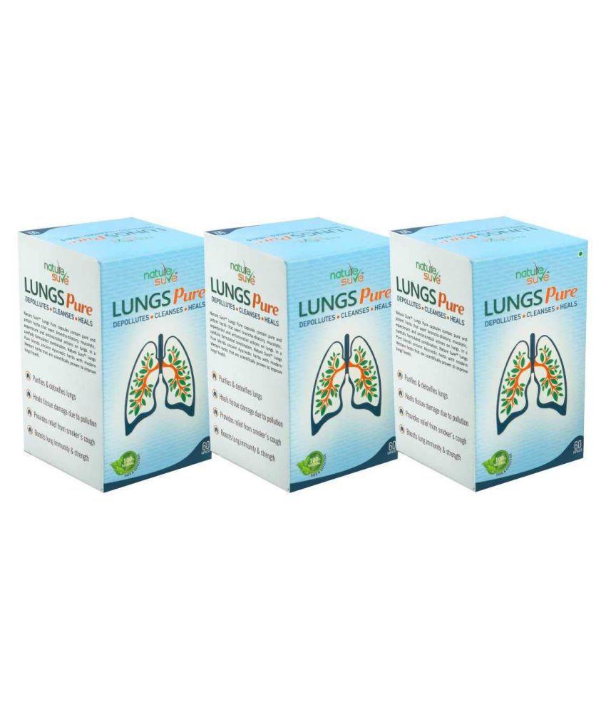 Nature Sure Lungs Pure Capsules for Men & Women – 1 Pack (60 Capsules) Capsule 180 no.s Pack of 3