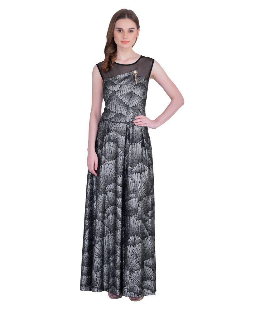 Ritu Designs Poly Cotton Silver Regular Dress