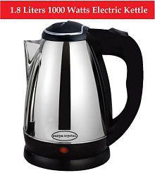 Soorya Crystal SCK-1 1.8 Liters 1000 Watts Stainless Steel Electric Kettle