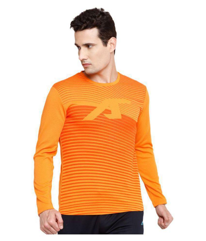 Alcis Orange Polyester Terry Sweatshirt