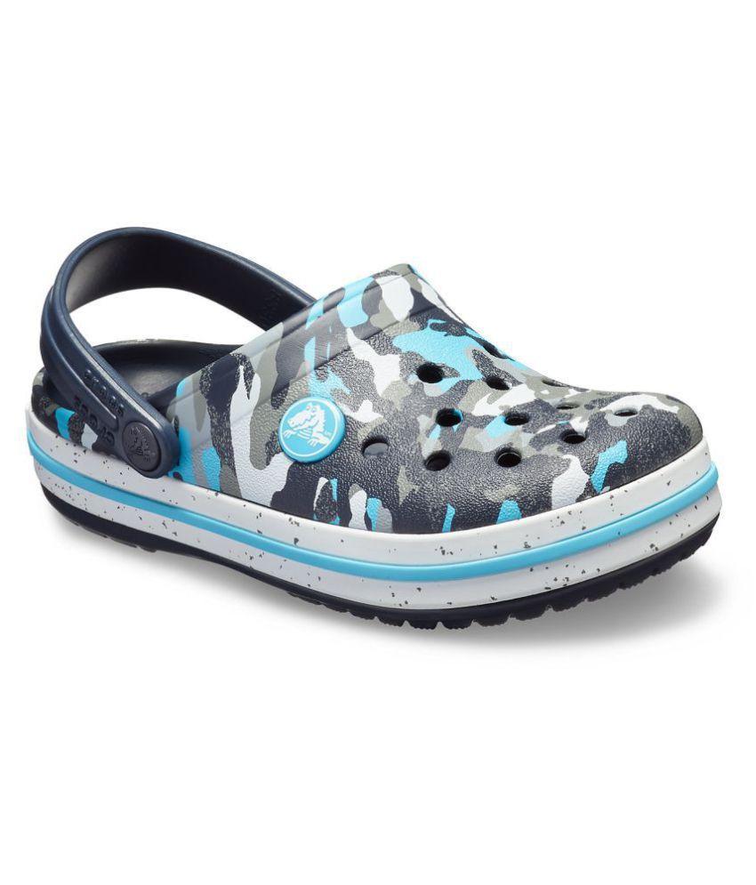 eb1e718f93843 Crocs Crocband Camo Spec Blue Boys Clog Price in India- Buy Crocs Crocband  Camo Spec Blue Boys Clog Online at Snapdeal