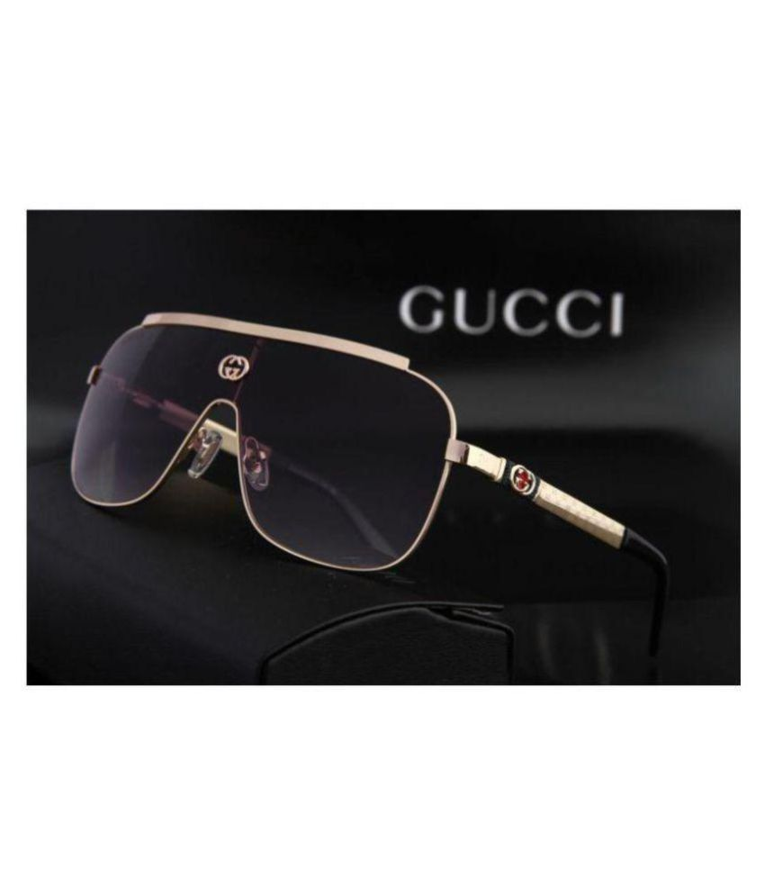 fb9f9663323 GUCCI EYEWEAR Black Rectangle Sunglasses ( G39 ) - Buy GUCCI EYEWEAR Black  Rectangle Sunglasses ( G39 ) Online at Low Price - Snapdeal