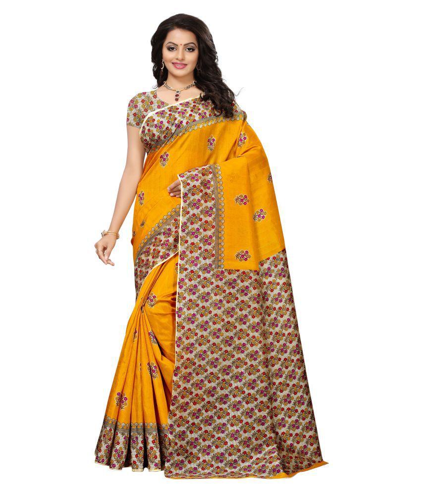PATLANI STYLE Yellow Mysore Silk Saree