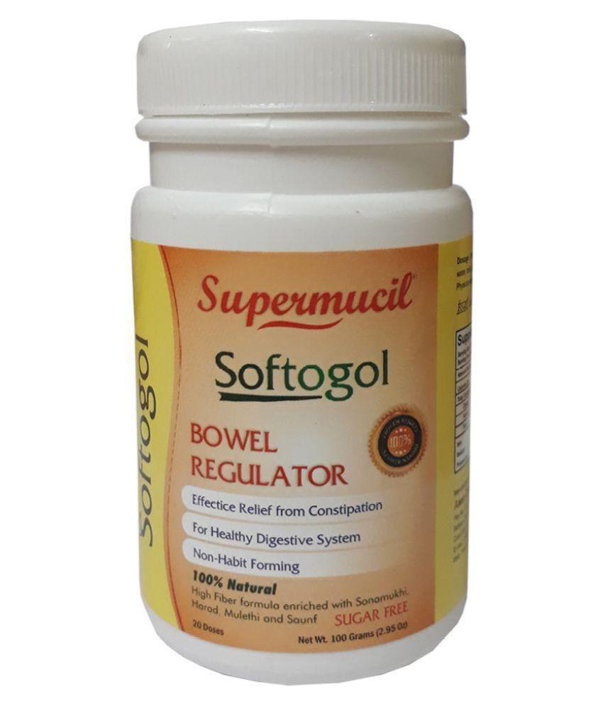 SUPERMUCIL SOFTOGOL Psyllium (Sat Isabgol) with Senna Powder 100 gm Pack of 3