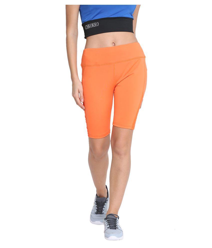 CHKOKKO Gym Sports Stretchable Yoga Mesh Shorts for Women