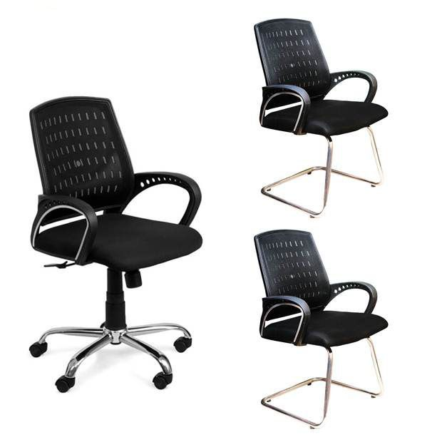 buy 1 mesh back office chair get 2 visitor chairs free buy buy 1 rh snapdeal com
