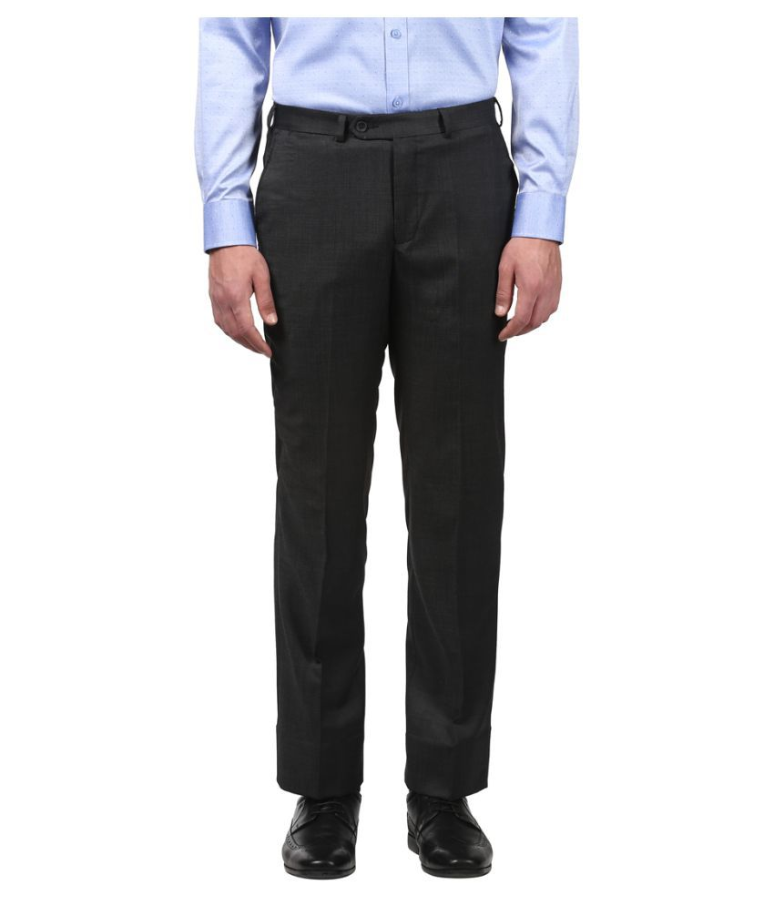 Colorplus Blue Regular -Fit Flat Trousers