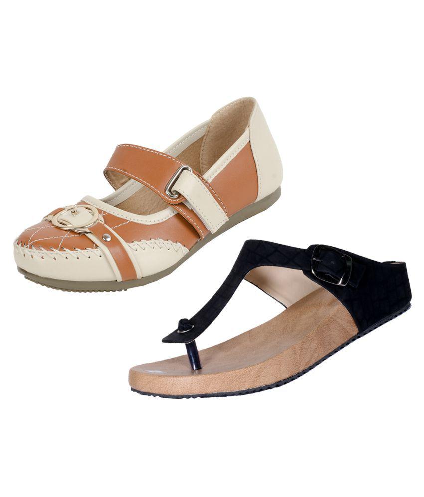 IndiWeaves Brown Wedges Heels