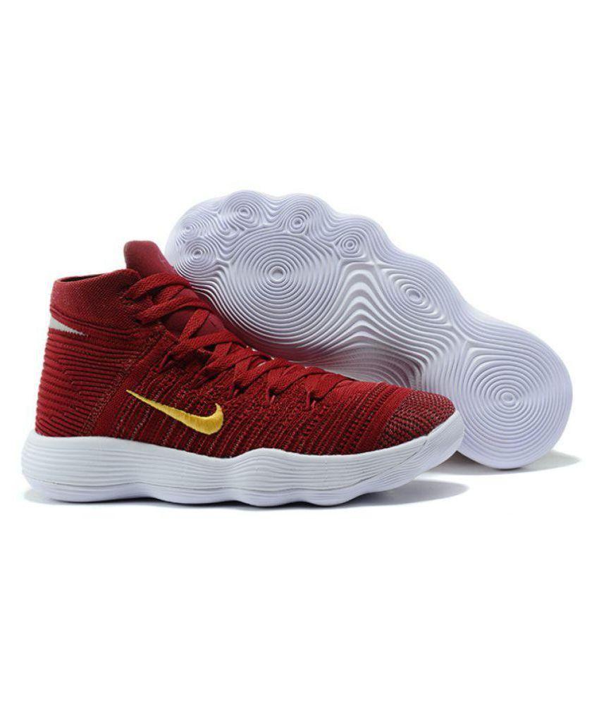 super popular 41be7 e7397 Nike hyperdunk 2018 flyknit Maroon Basketball Shoes