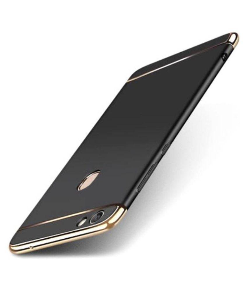 Vivo V5 Plus Plain Cases Doyen Creations - Black 3 In 1 chromium glossy finish