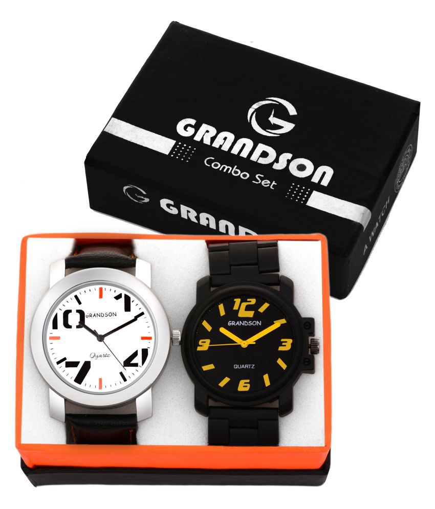 Grandson Attractive Set of 2 Watches Combo for Boys