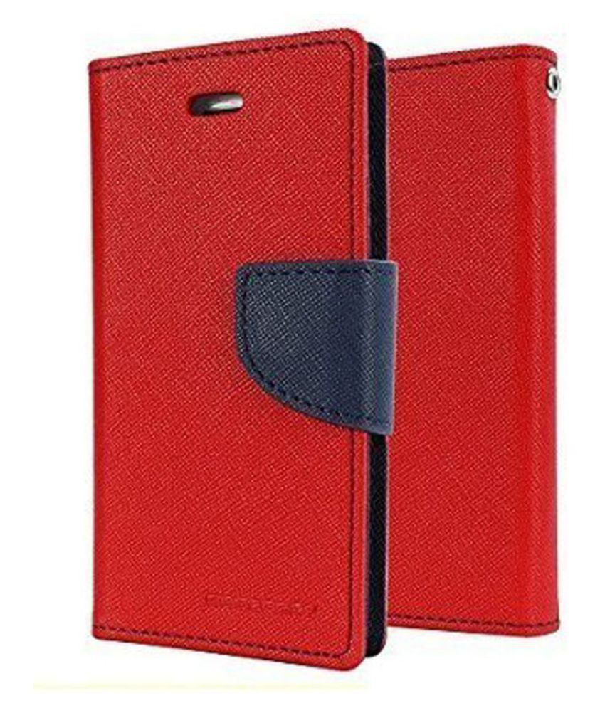 Lava A97 Flip Cover by Zocardo - Red