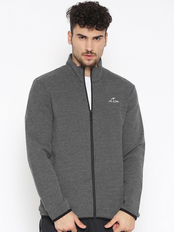 Alcis Dark Grey Polyester Fleece Jacket Single Pack