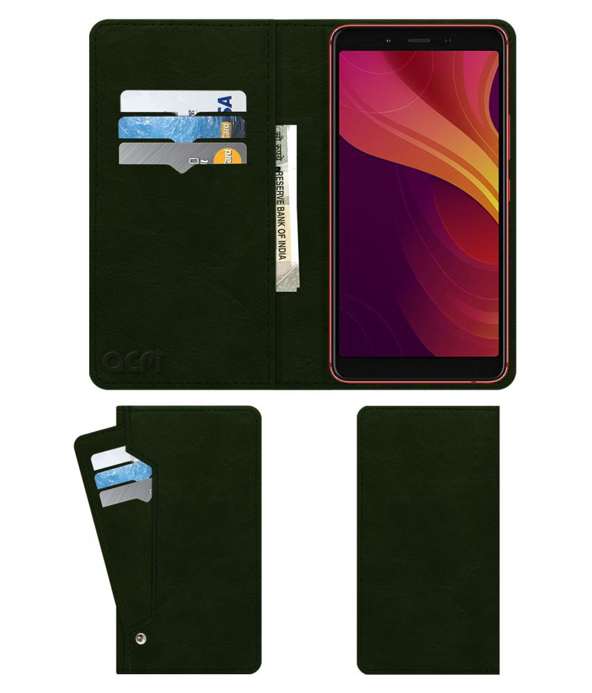 finest selection b3a2b 511e2 Infinix Note 5 Stylus Flip Cover by ACM - Green Wallet Case,Can store 6  Card & Cash,Teal Green