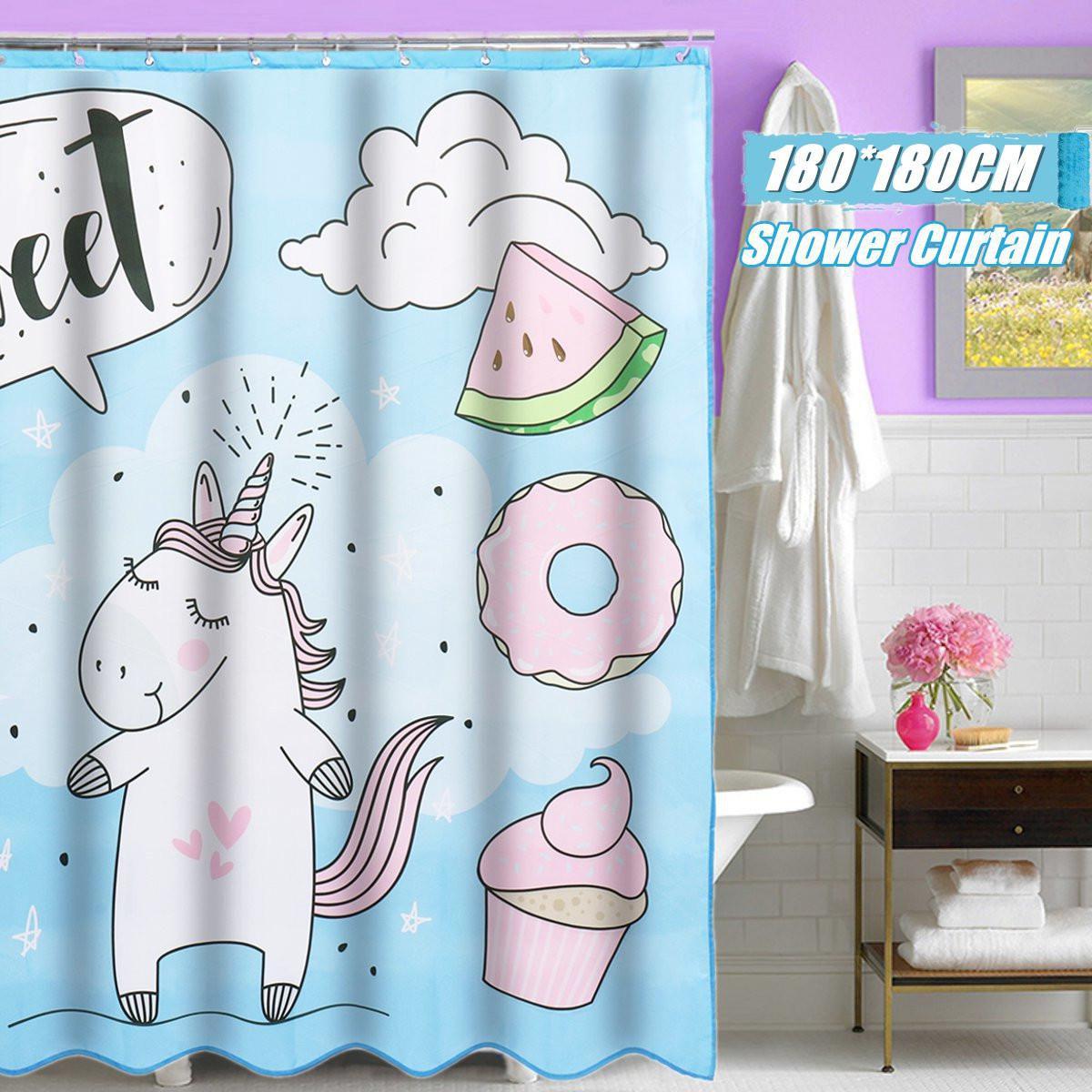 Buy 180 180cm Polyester Waterproof Bathroom Decor Shower