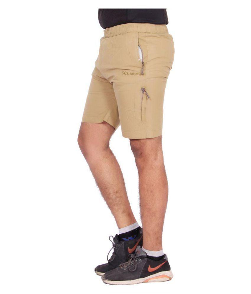 Kuber Industries Cotton Cargo Bermuda shorts for men  (Khakhi)