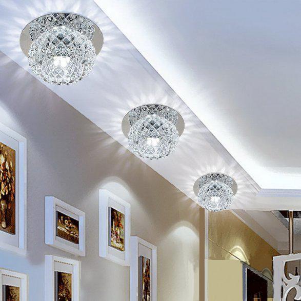 Modern Crystal 5w Led Ceiling Light Fixture Pendant Lamp Lighting Chandelier Usa Buy Modern