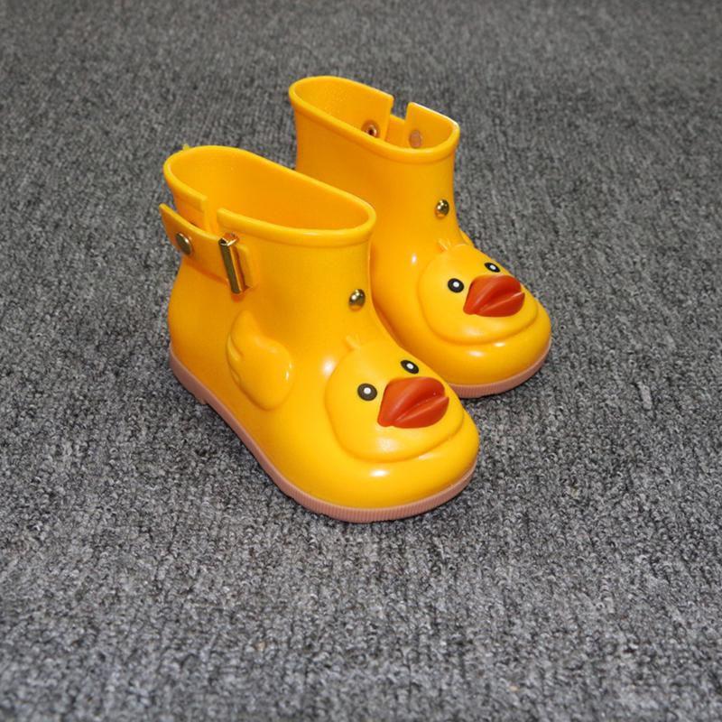 Kids Cute Duck Rain Boots Boys Girls Cartoon Jelly Shoes
