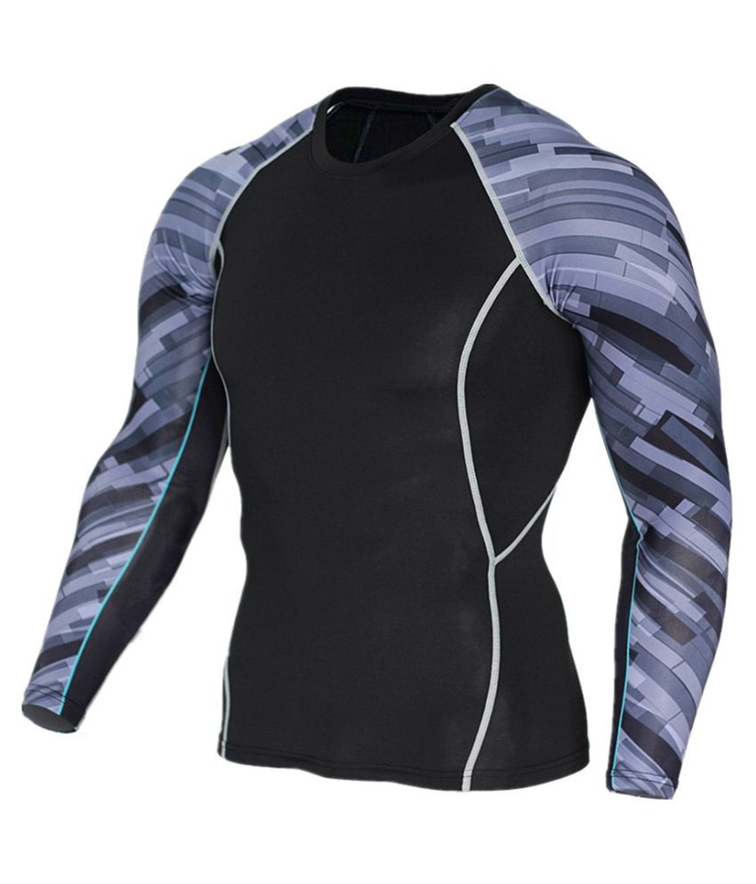 Men's arm print sports compression sportswear