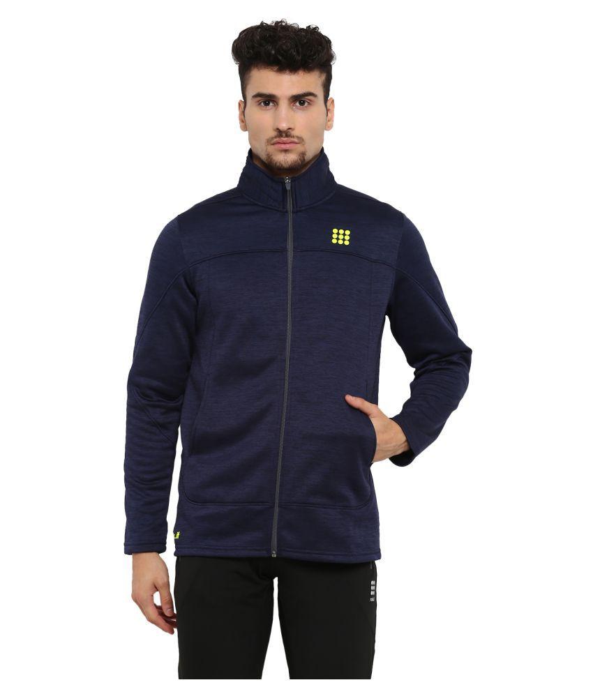 Rock.it Mens Navy Blue Printed Polo Collar SWIFT DRI Sweatshirts