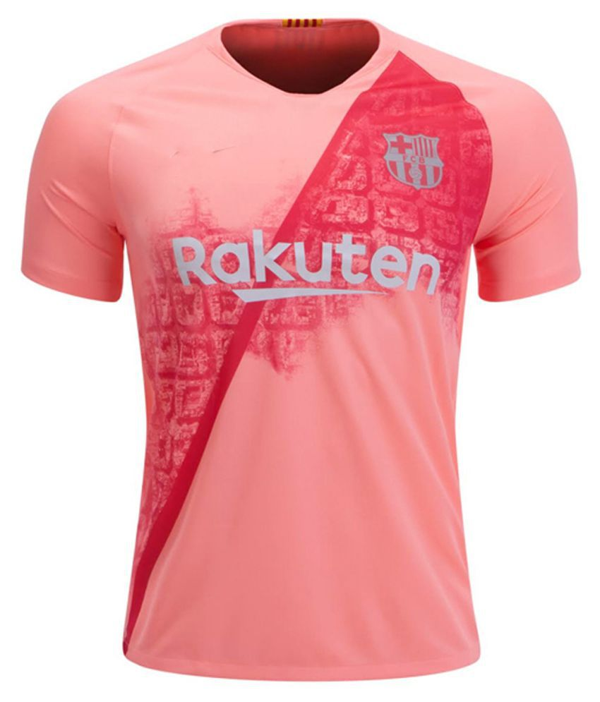 info for e797c f46b1 Fc BARCELONA half peach colour polyester drifit 18/19 latest away jersey