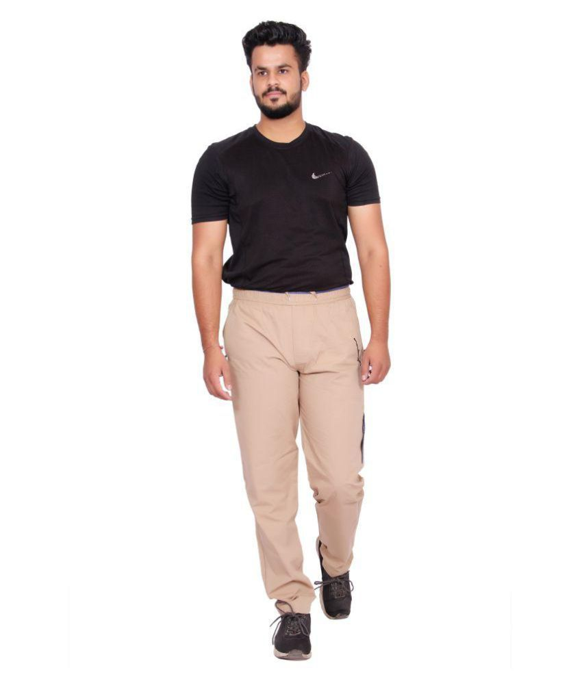 Kuber Industries Cotton Pajama Chinkara Lower Track pant for men   (Brown)