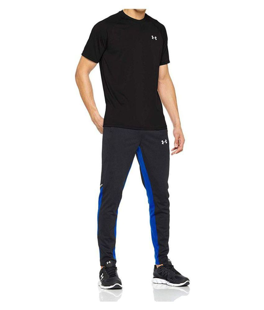 Under Armour Black Polyester Lycra T-Shirt