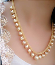 2eab394ab Quick View. Darshini Designs Alloy Golden Collar Traditional Gold Plated  Necklaces Set