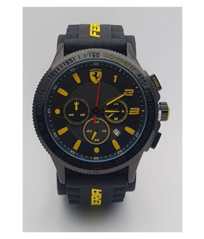 bd1e39e2a Ferrari SF-618 Rubber Chronograph Men's Watch - Buy Ferrari SF-618 Rubber  Chronograph Men's Watch Online at Best Prices in India on Snapdeal