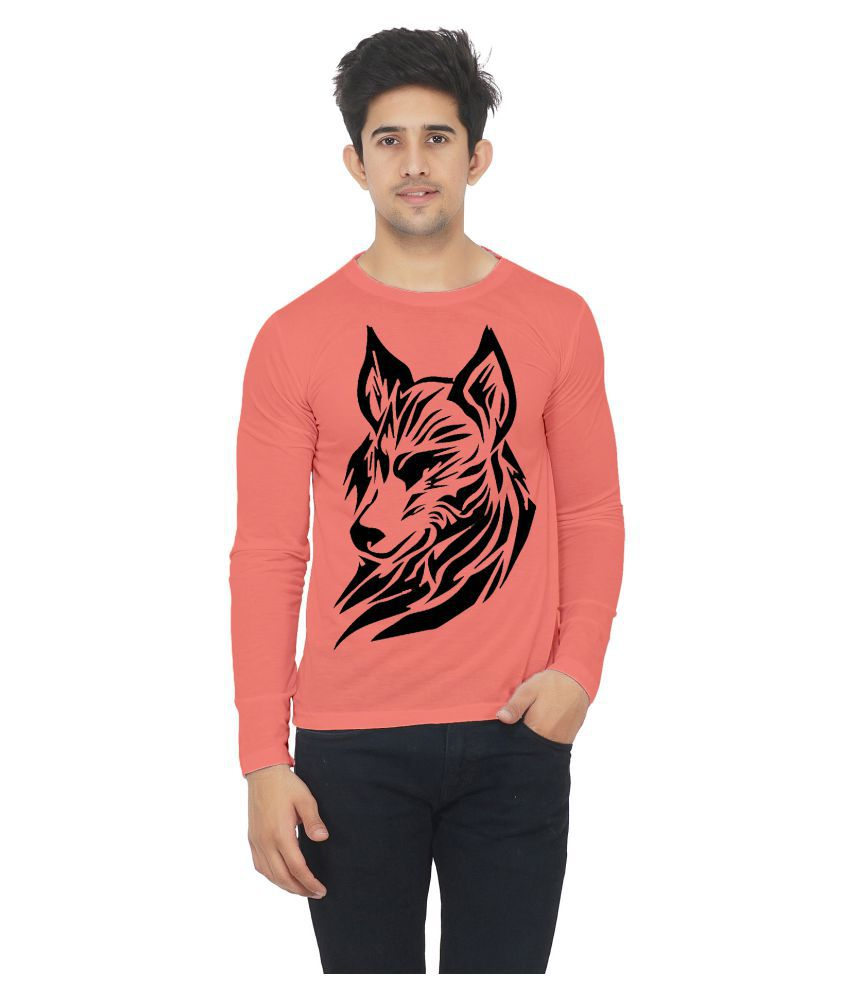 M R MARC ROSE Peach Full Sleeve T-Shirt