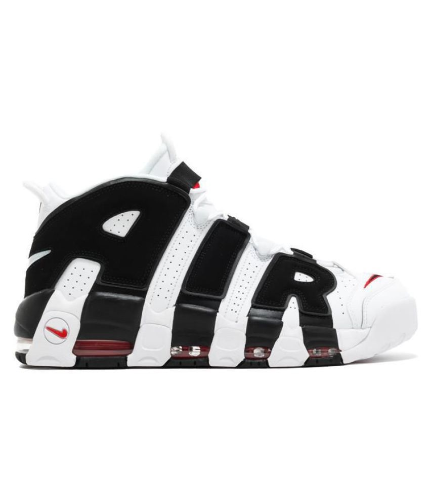cheap for discount b2b67 5a830 ... Nike AIR MORE UPTEMPO BLACK RED White Basketball Shoes ...