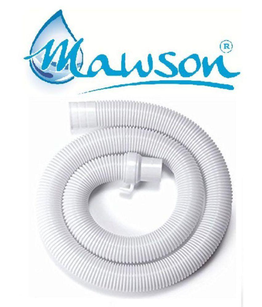 MAWSON Plastic Univarsal 3Mtr Washing Machine Outlet Pipe   White