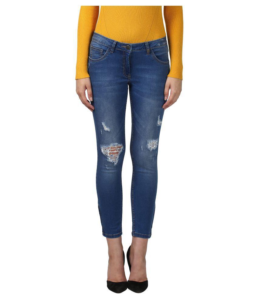 Park Avenue Woman Cotton Jeans - Blue