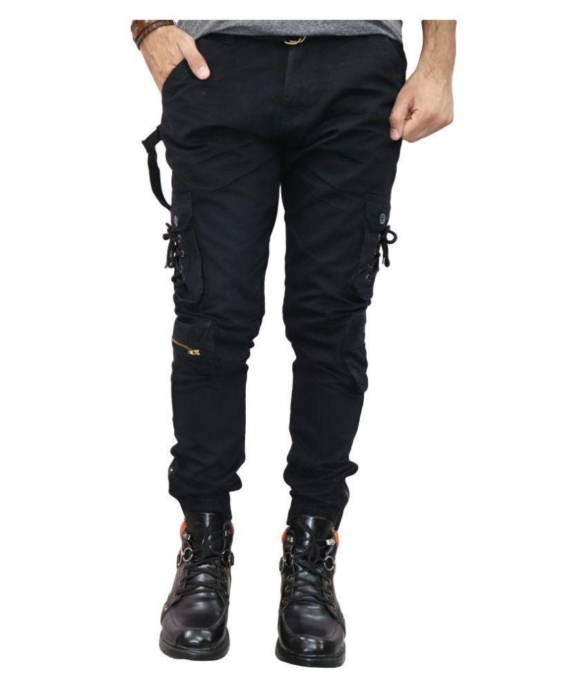 Urban Legends Black Regular -Fit Flat Joggers