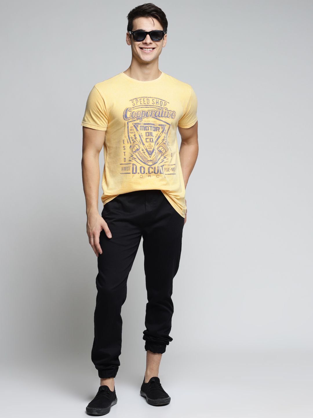 Difference of Opinion Yellow Half Sleeve T-Shirt