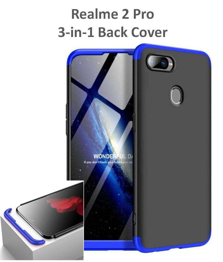Realme 2 Pro GKK Hard Back Cover by Shopyholik - Blue